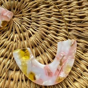 Jewelry - Pink and Yellow Resin Earrings